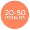 20-50 pounds weight loss with orbera balloon